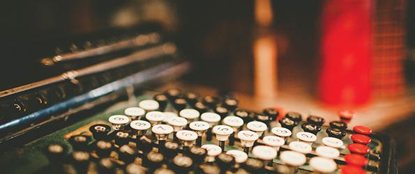 Close of up an adding machine keyboard