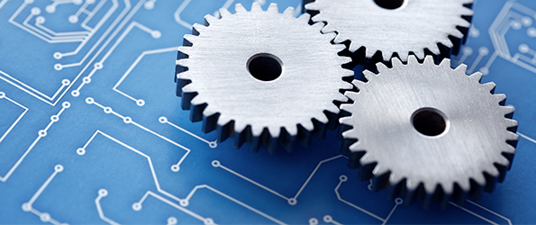 Cogs and blueprints